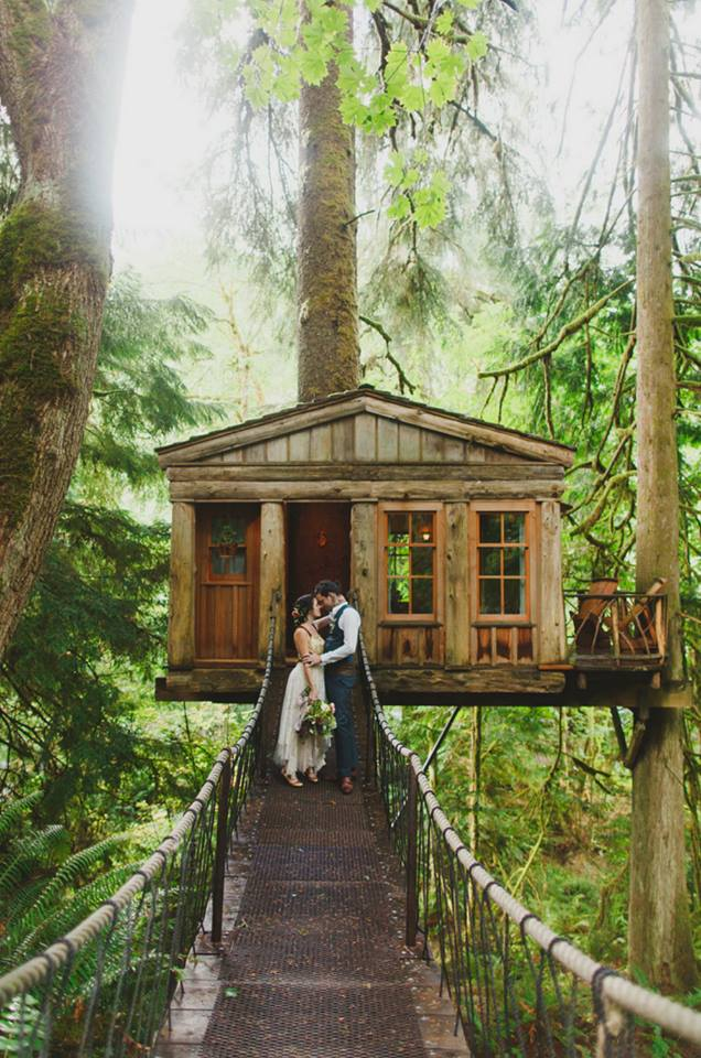 Tree House Wedding Florist Seattle Washington Hart Floral